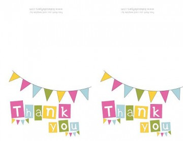 009 Singular Thank You Note Template Free Printable Design 360