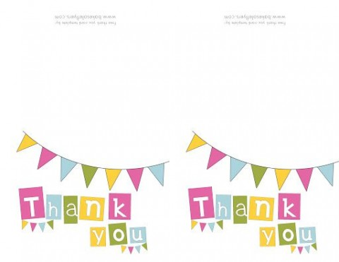 009 Singular Thank You Note Template Free Printable Design 480