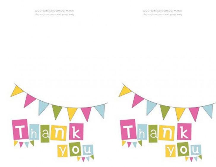 009 Singular Thank You Note Template Free Printable Design 728