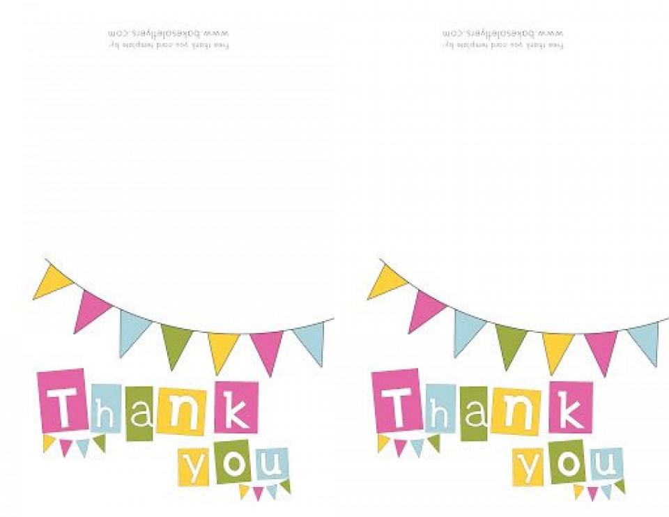 009 Singular Thank You Note Template Free Printable Design 960