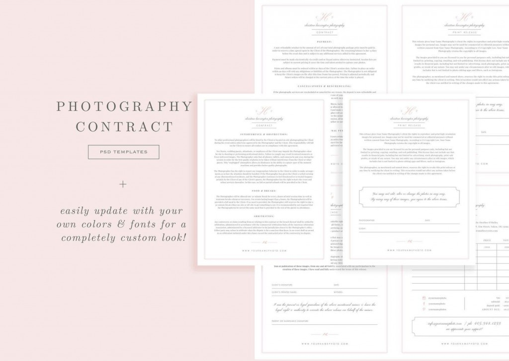 009 Singular Wedding Photographer Contract Template Free Highest Clarity  Simple Photography WordLarge