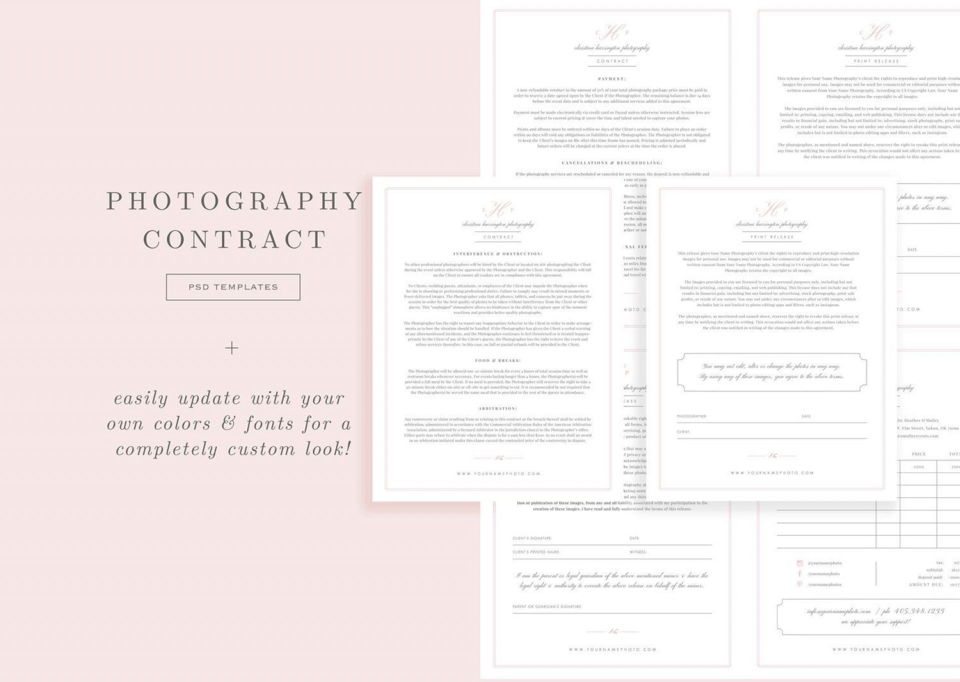 009 Singular Wedding Photographer Contract Template Free Highest Clarity  Simple Photography Word1920