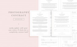 009 Singular Wedding Photographer Contract Template Free Highest Clarity  Simple Photography Word