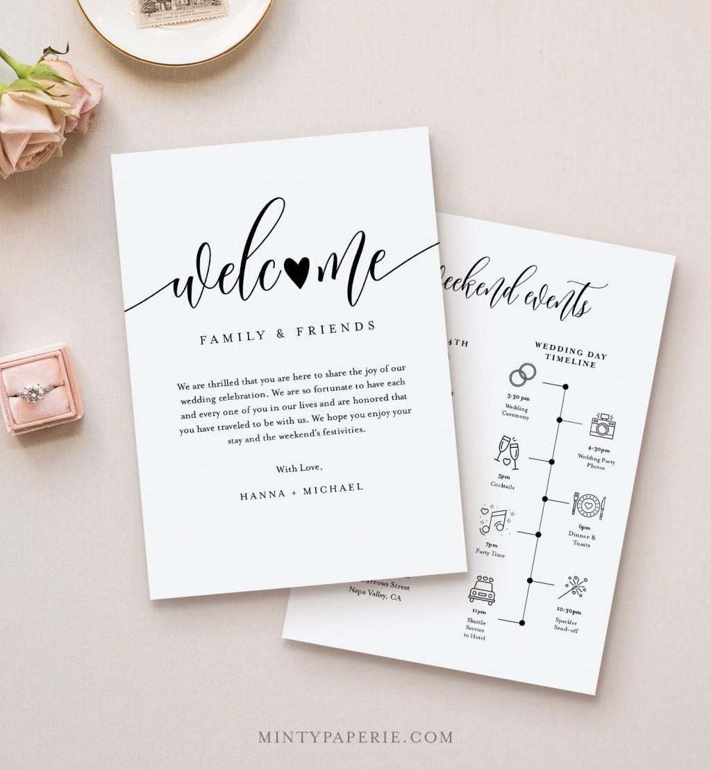 009 Singular Wedding Welcome Letter Template Download High Definition Large