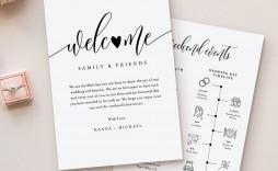 009 Singular Wedding Welcome Letter Template Download High Definition