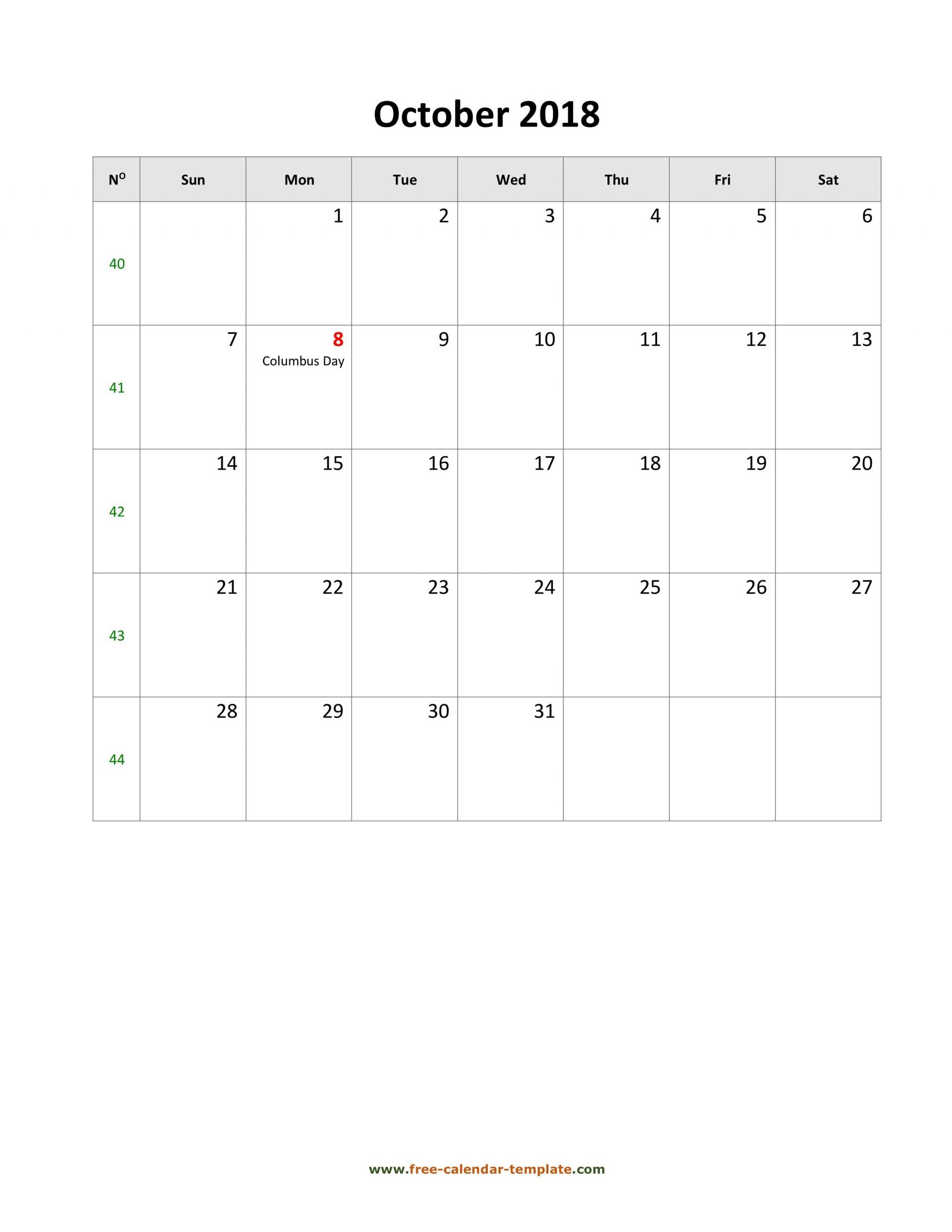 009 Staggering Calendar Template October 2018 Word Design 1920