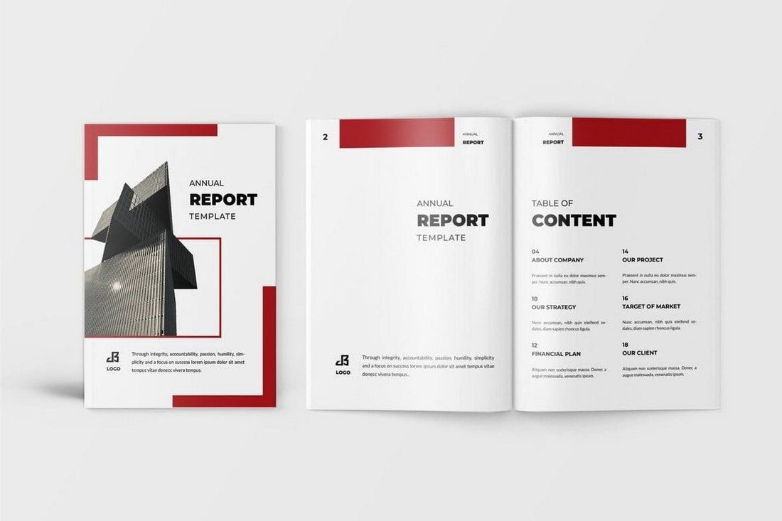 009 Staggering Free Adobe Indesign Annual Report Template Image Full