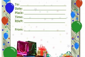 009 Staggering Free Birthday Party Invitation Template For Word Idea