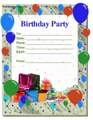 009 Staggering Free Birthday Party Invitation Template For Word Idea 320