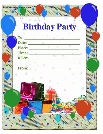 009 Staggering Free Birthday Party Invitation Template For Word Idea 360