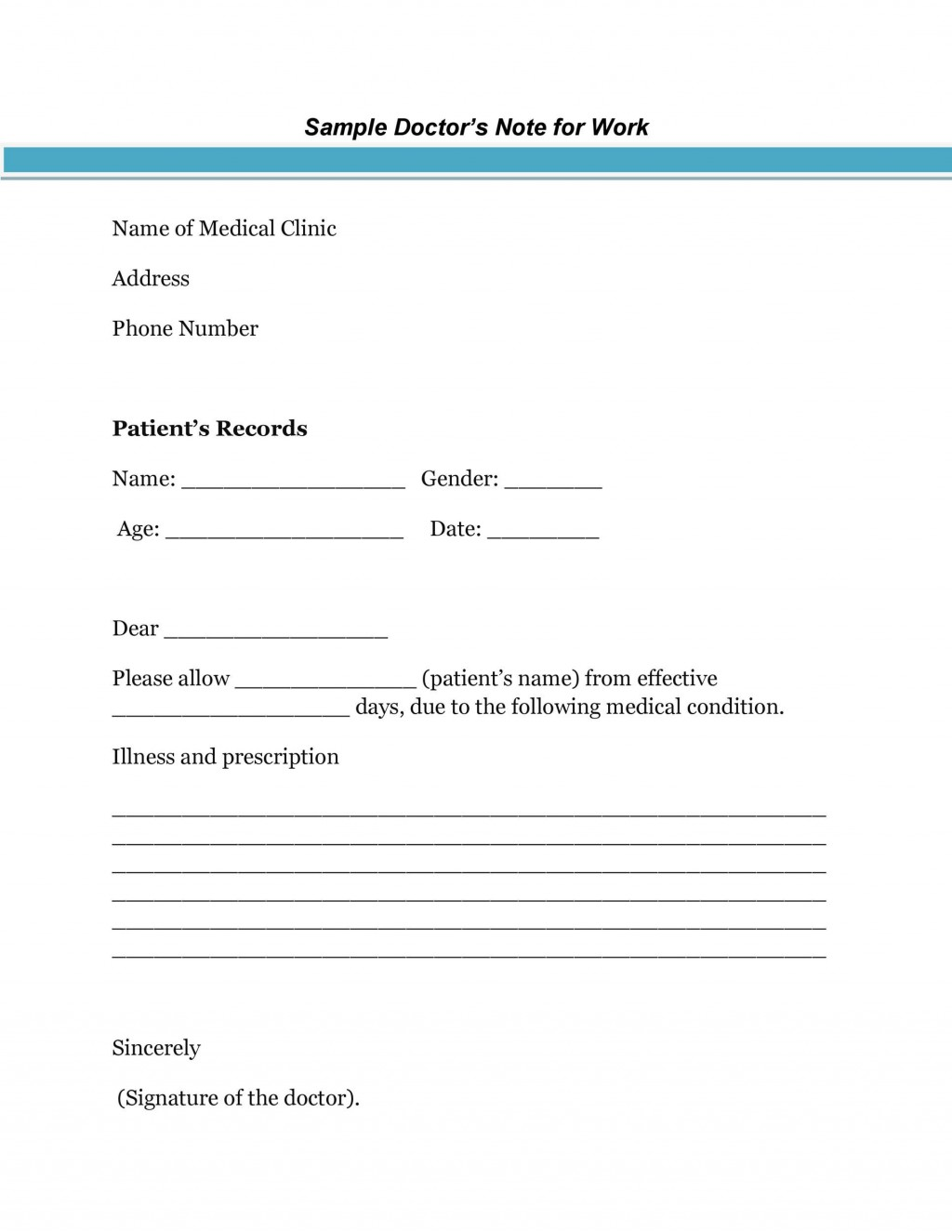 009 Staggering Free Doctor Note Template For Work High Resolution  Printable Editable Fake PdfLarge