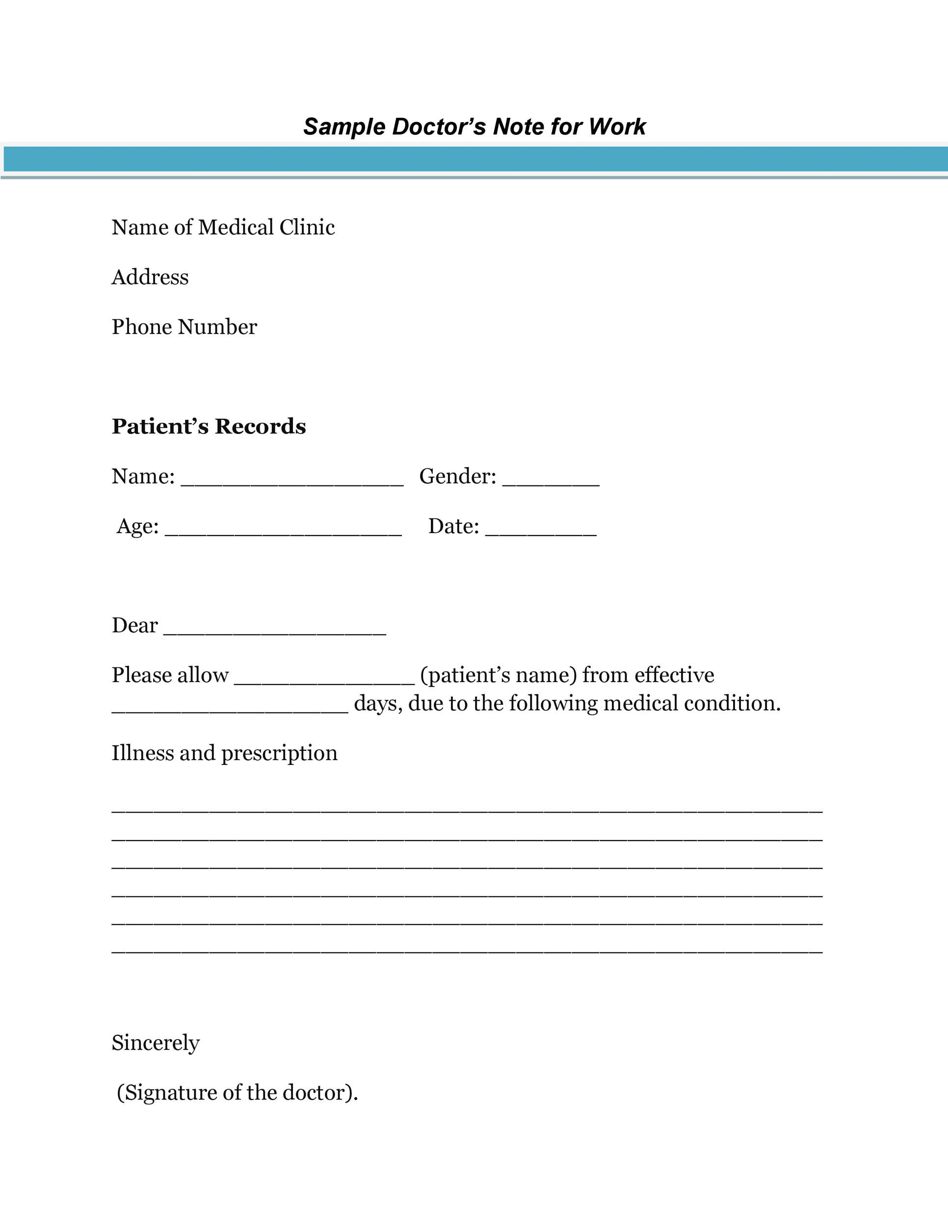 009 Staggering Free Doctor Note Template For Work High Resolution  Printable Editable Fake PdfFull
