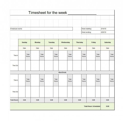009 Staggering Free Employee Sign In Sheet Template Inspiration  Schedule Pdf Weekly Timesheet Printable480