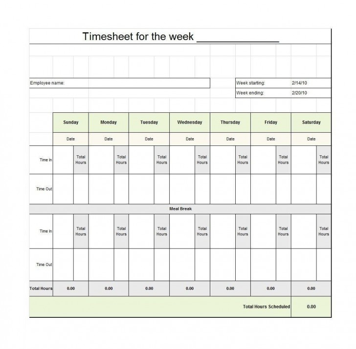 009 Staggering Free Employee Sign In Sheet Template Inspiration  Schedule Pdf Weekly Timesheet Printable728