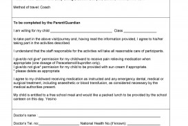 009 Staggering Free Parental Medical Consent Form Template High Definition