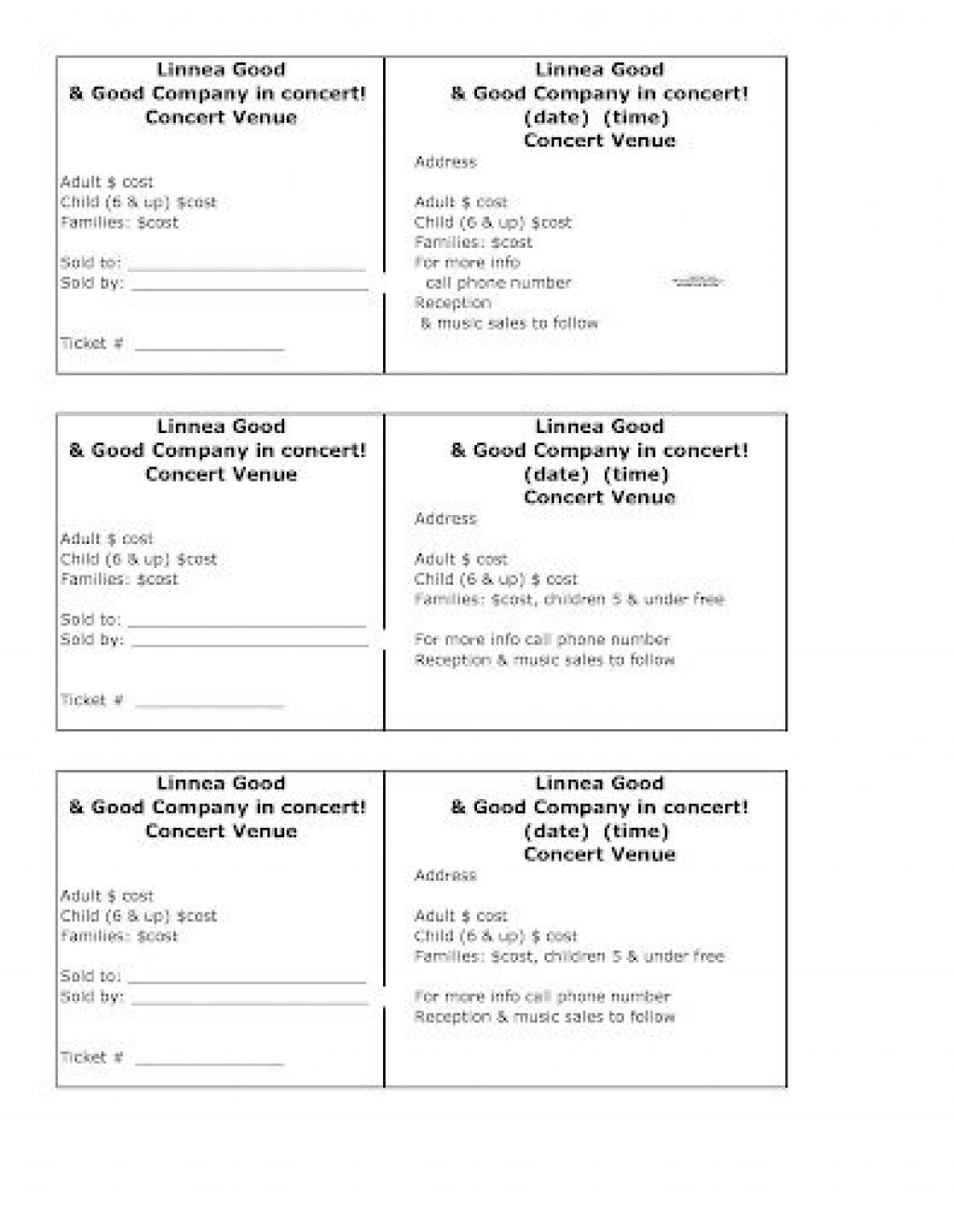 009 Staggering Fundraiser Ticket Template Free Highest Clarity  Printable Download Car WashLarge