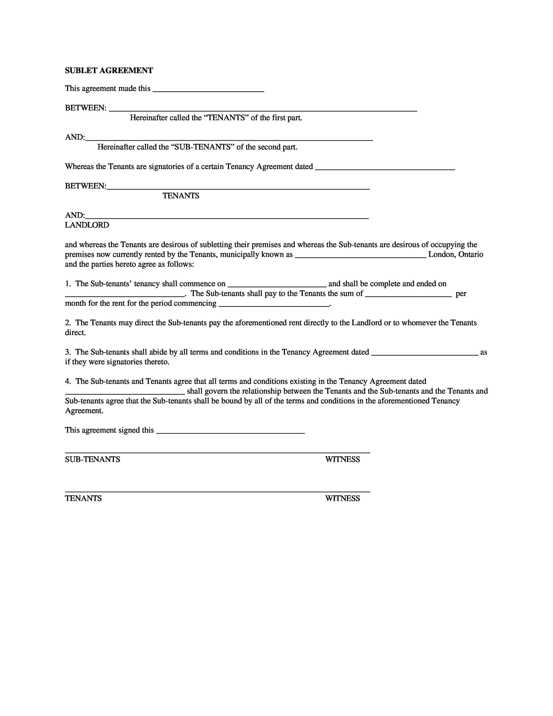 009 Staggering Landlord Contract Template Free High Resolution  Rental Simple Flat Resident Tenancy AgreementFull