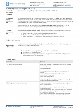 009 Staggering Project Management Plan Template Pmi Design  Quality Pmbok320