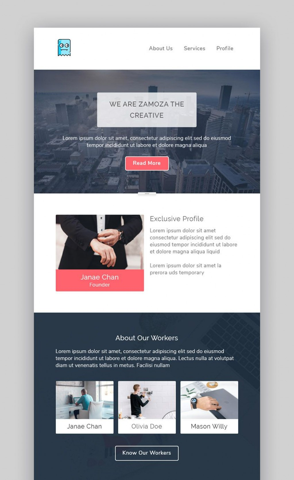 009 Staggering Responsive Email Newsletter Template Free Download Picture Large