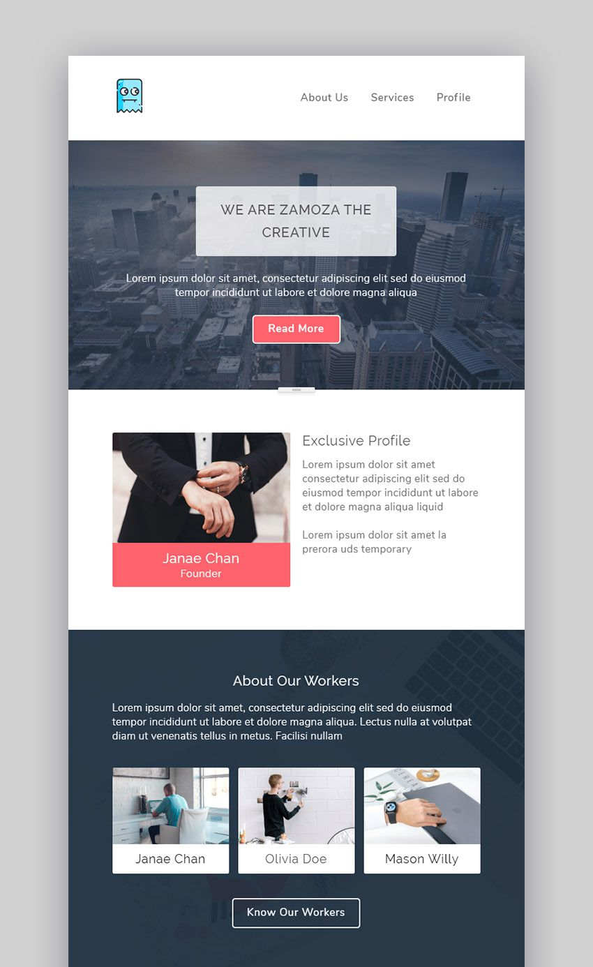 009 Staggering Responsive Email Newsletter Template Free Download Picture Full