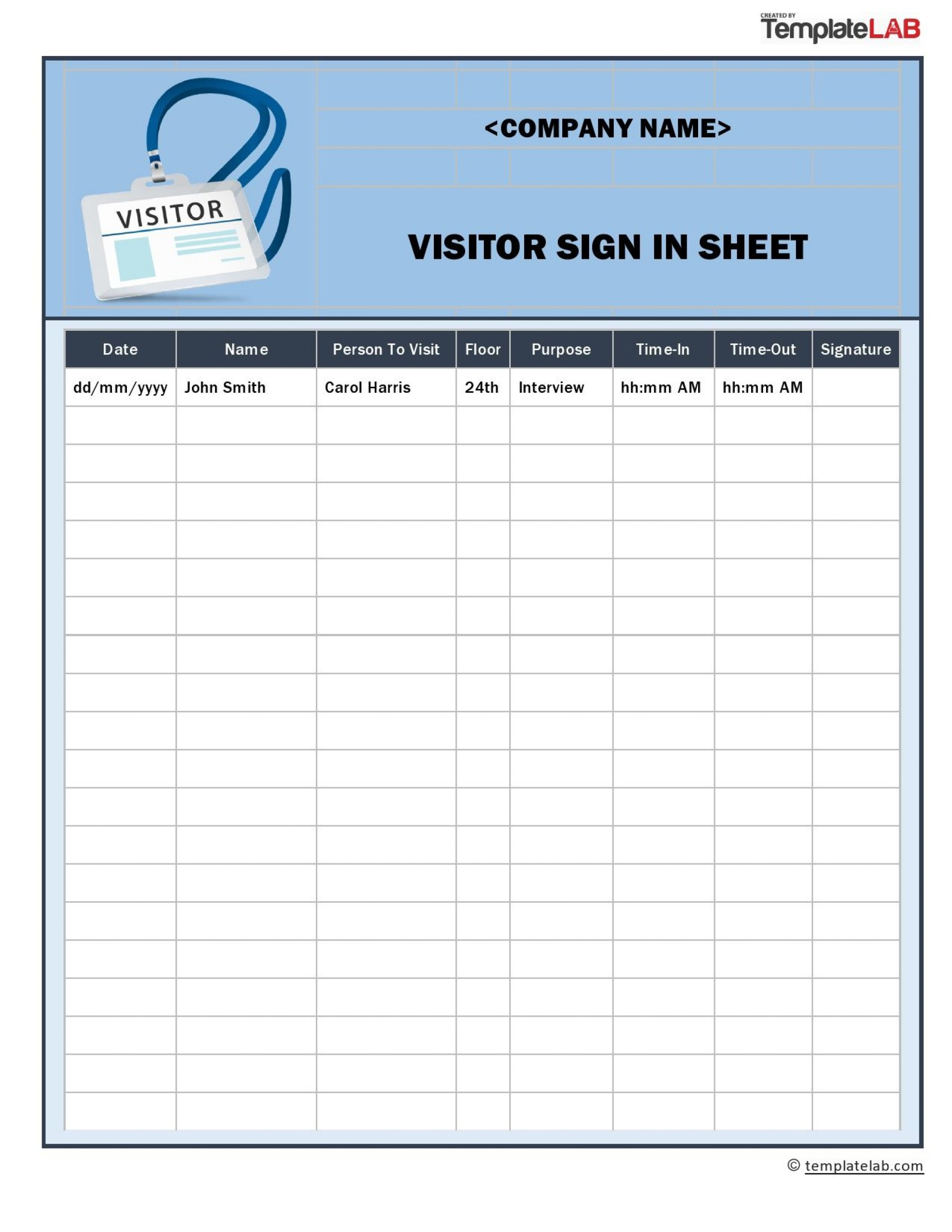 009 Staggering Visitor Sign In Sheet Template Pdf Photo 1920