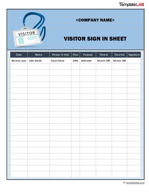 009 Staggering Visitor Sign In Sheet Template Pdf Photo 480
