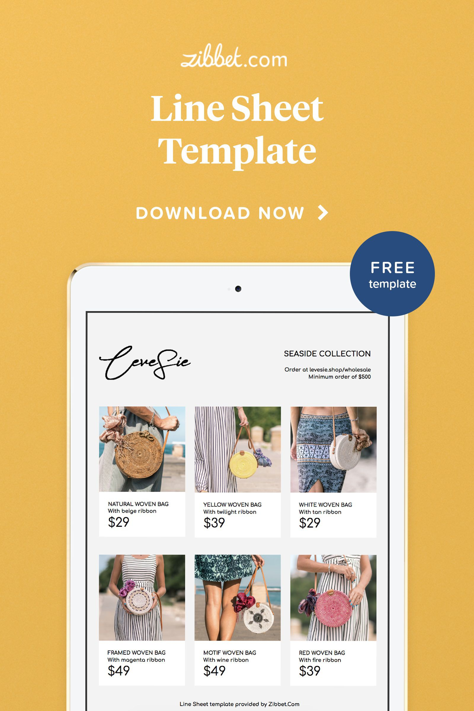 009 Staggering Wholesale Line Sheet Template Image  Fashion Free ExcelFull