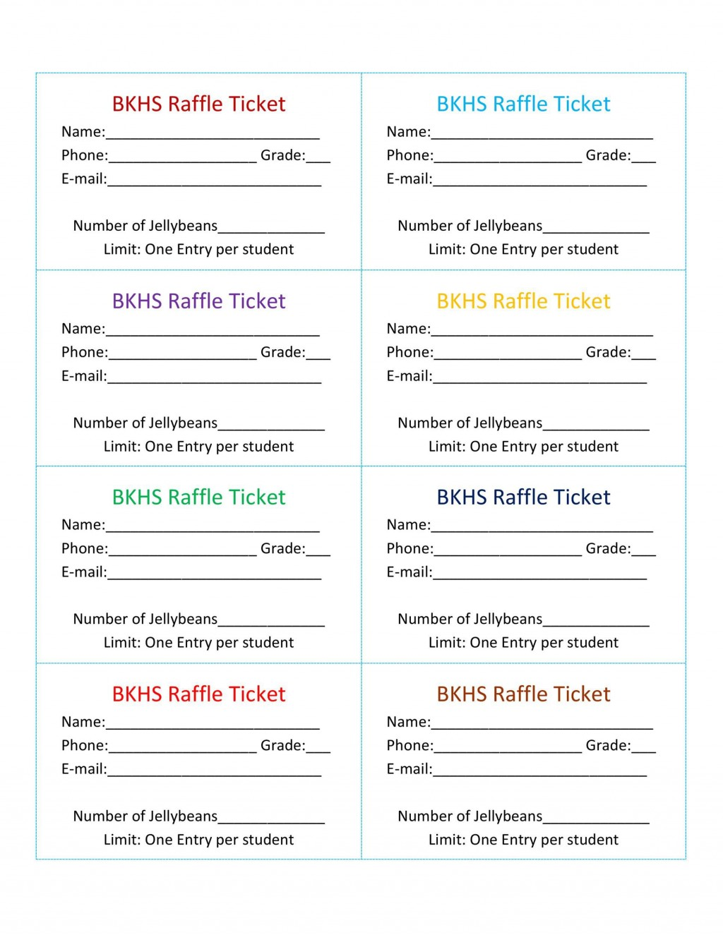 009 Staggering Word Raffle Ticket Template Picture  2010 Free Printable MicrosoftLarge
