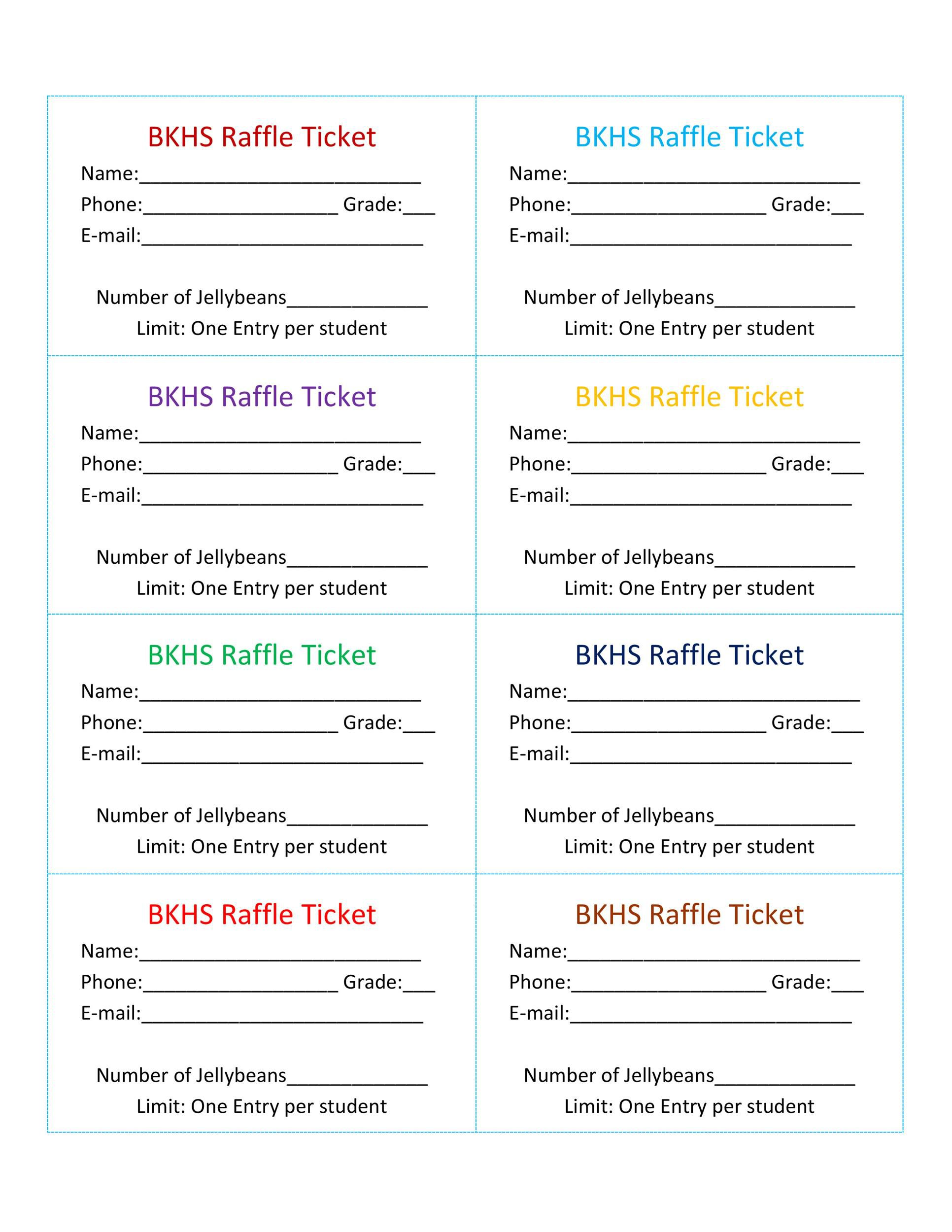009 Staggering Word Raffle Ticket Template Picture  2010 Free Printable MicrosoftFull