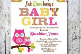 009 Stirring Baby Shower Invitation Girl Printable Inspiration