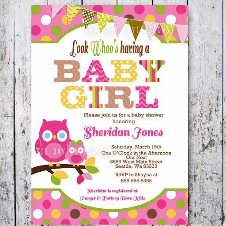 009 Stirring Baby Shower Invitation Girl Printable Inspiration 728