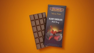 009 Stirring Candy Bar Wrapper Template Photoshop Example  Chocolate320