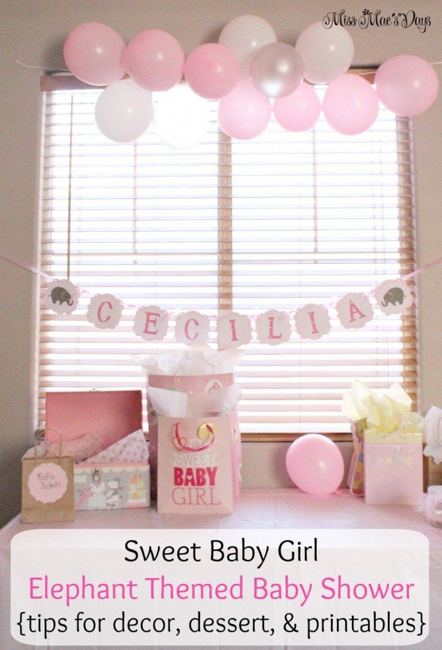 009 Stirring Free Girl Elephant Baby Shower Printable Concept  Printables