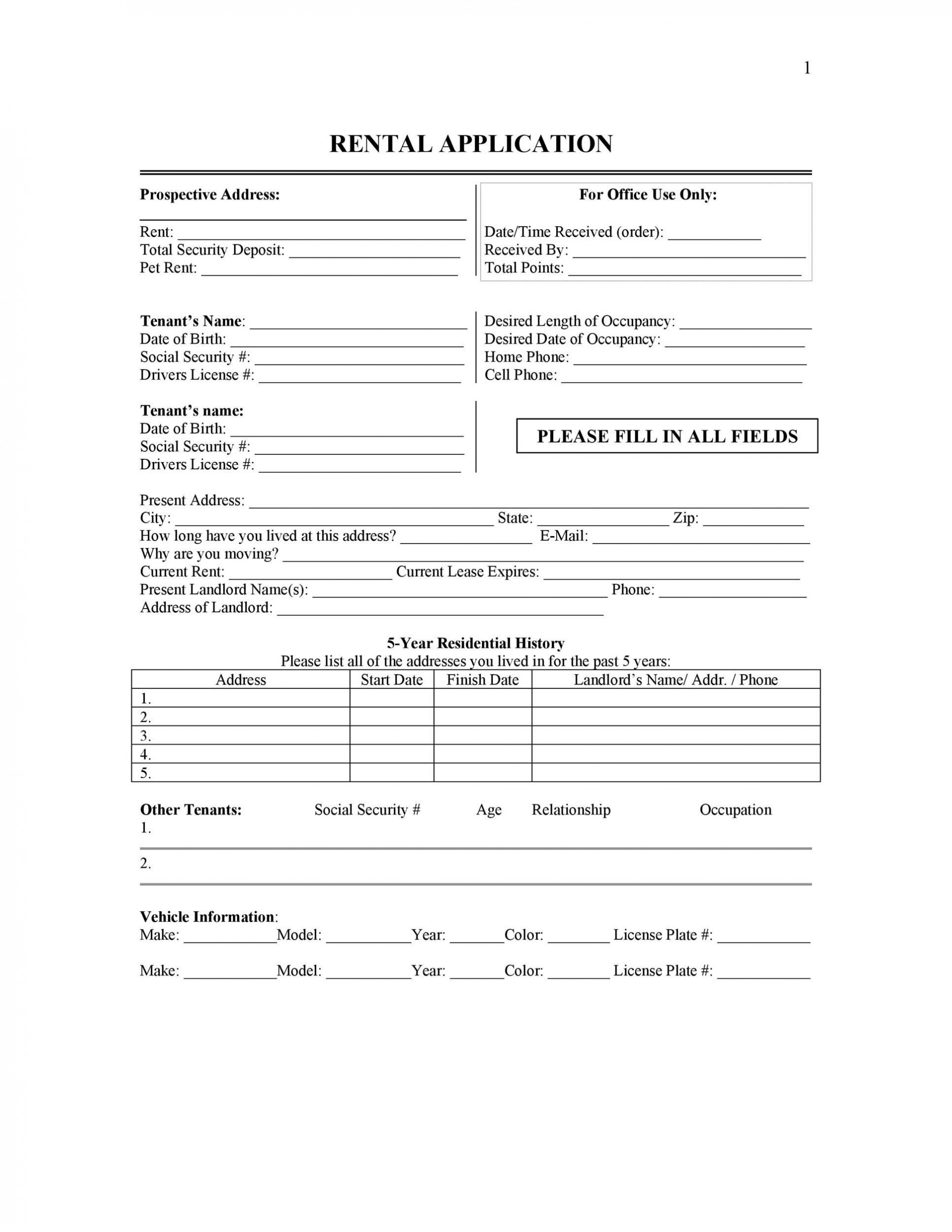 009 Stirring Free Rental Application Template Highest Clarity  Form Oregon Credit Online1920