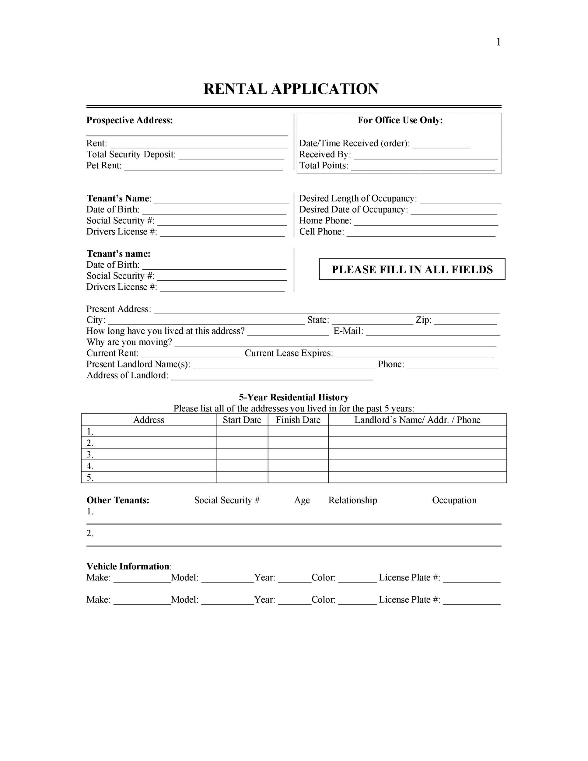 009 Stirring Free Rental Application Template Highest Clarity  Form Oregon Credit OnlineFull