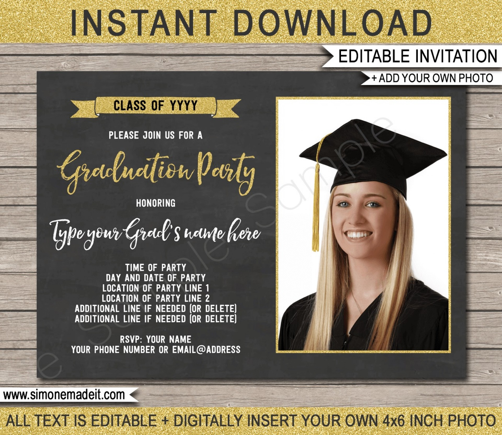 009 Stirring Graduation Party Invitation Template High Definition  Microsoft Word 4 Per Page1920