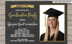 009 Stirring Graduation Party Invitation Template High Definition  Microsoft Word 4 Per Page