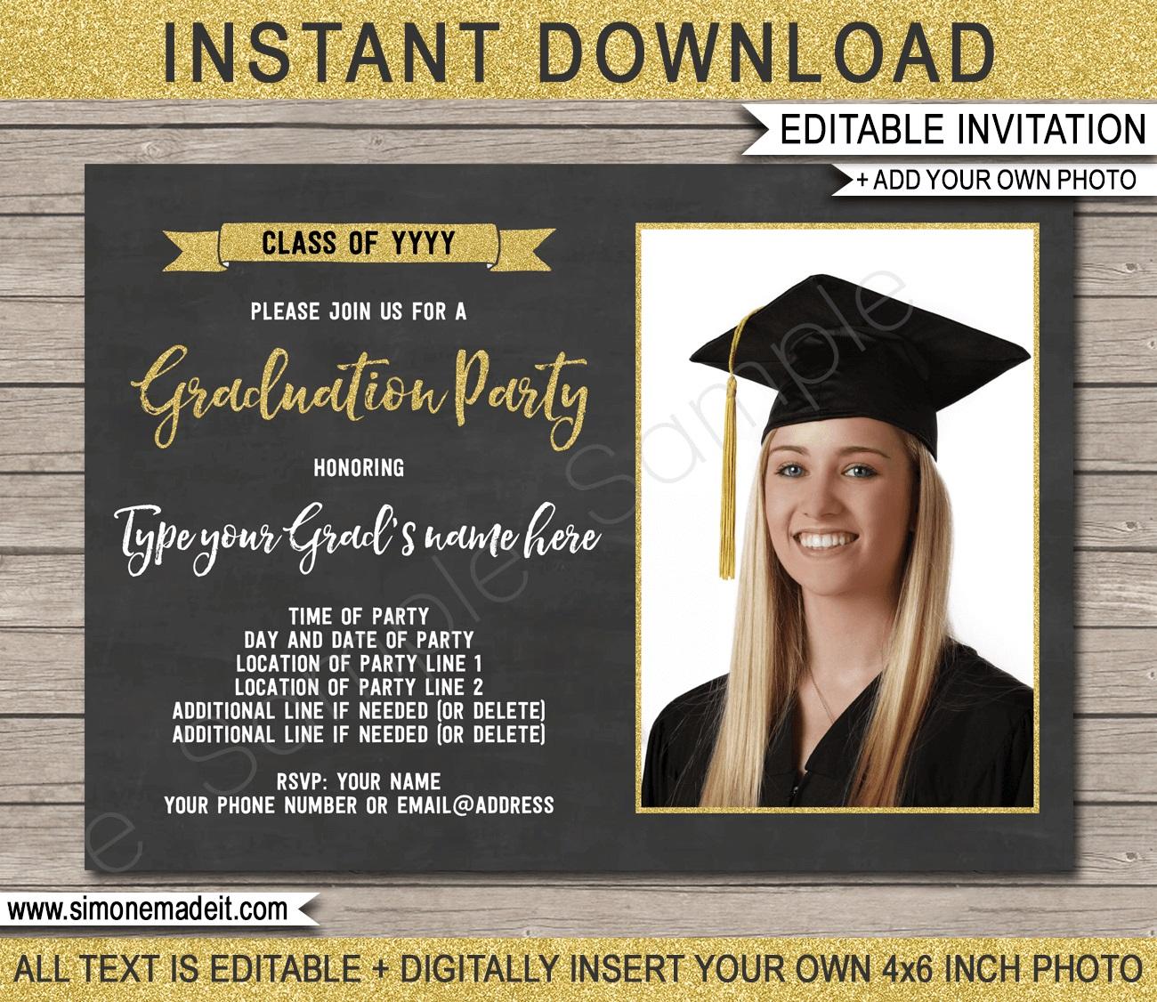 009 Stirring Graduation Party Invitation Template High Definition  Microsoft Word 4 Per PageFull