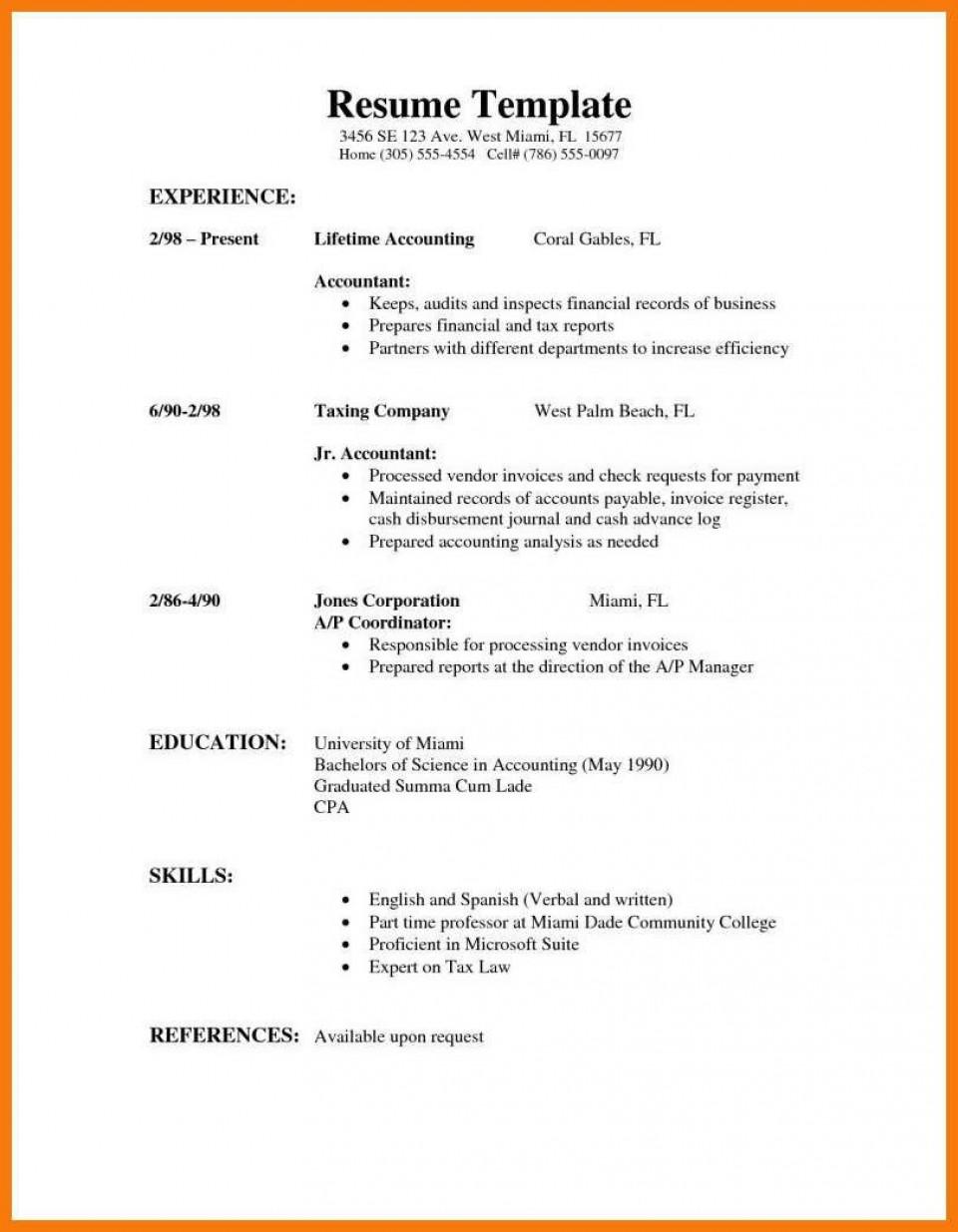 009 Stirring High School Student Resume Template Sample  Free Google Doc960