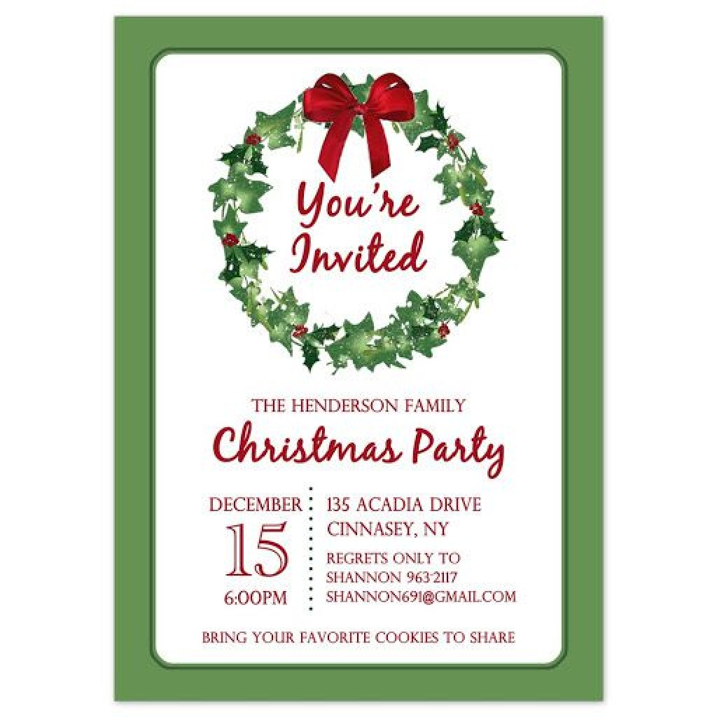 009 Stirring Holiday Party Invitation Template Free Inspiration  Elegant Christma Download Dinner Printable AustraliaLarge