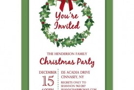 009 Stirring Holiday Party Invitation Template Free Inspiration  Elegant Christma Download Dinner Printable Australia