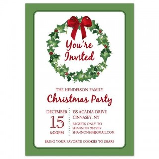 009 Stirring Holiday Party Invitation Template Free Inspiration  Elegant Christma Download Dinner Printable Australia320