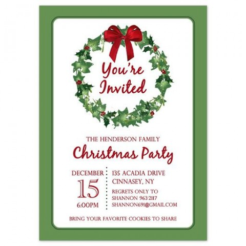 009 Stirring Holiday Party Invitation Template Free Inspiration  Elegant Christma Download Dinner Printable Australia480