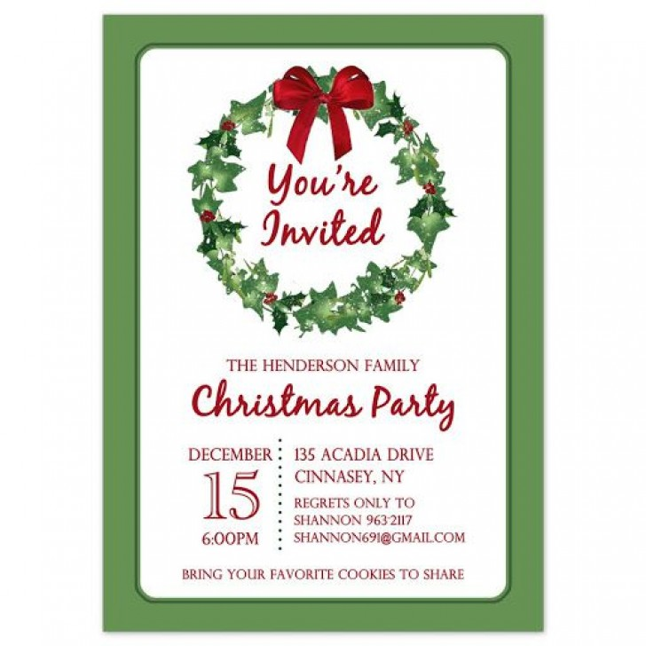 009 Stirring Holiday Party Invitation Template Free Inspiration  Elegant Christma Download Dinner Printable Australia728