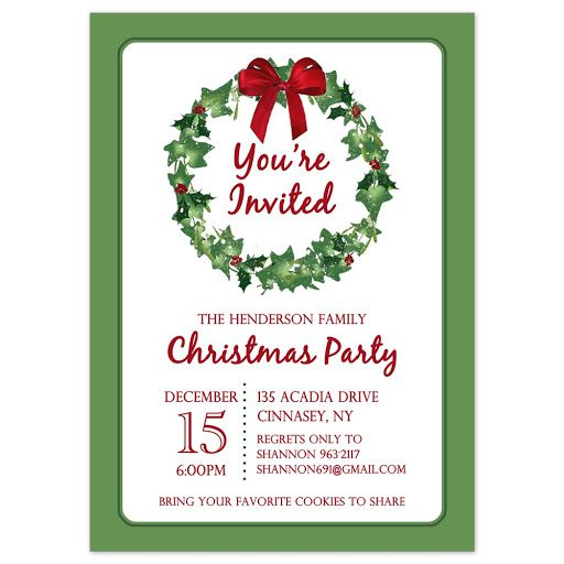 009 Stirring Holiday Party Invitation Template Free Inspiration  Elegant Christma Download Dinner Printable AustraliaFull