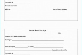 009 Stirring House Rent Receipt Sample Doc Design  Format Download Bill Template India