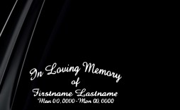 009 Stirring In Loving Memory Decal Template Example  Templates
