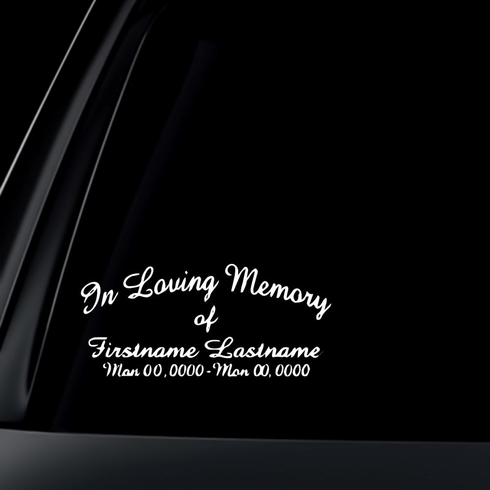 009 Stirring In Loving Memory Decal Template Example  TemplatesFull