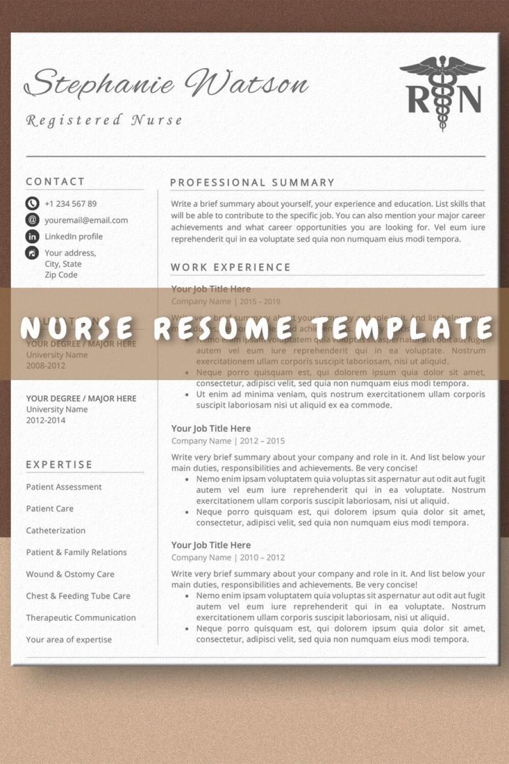 009 Stirring Nurse Resume Template Word Highest Clarity  Cv Free Download RnLarge