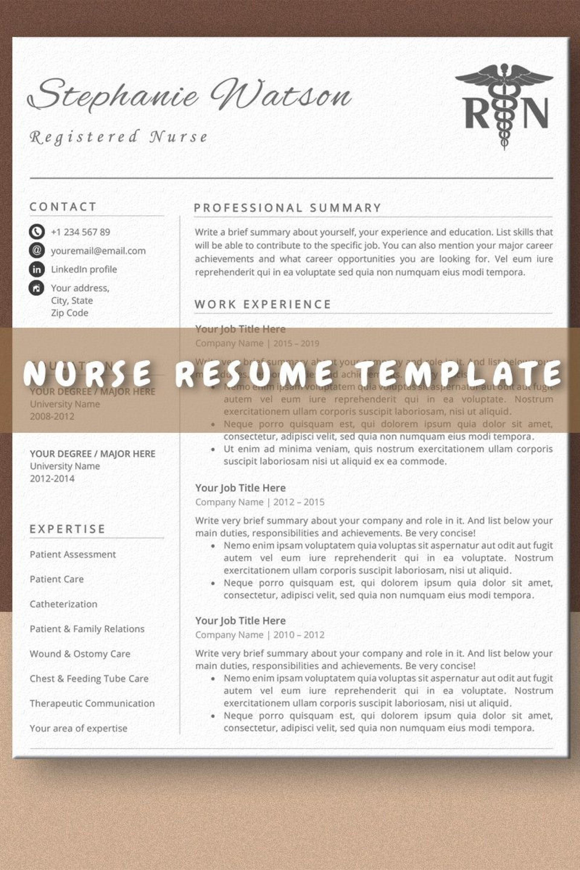 009 Stirring Nurse Resume Template Word Highest Clarity  Cv Free Download Rn1920